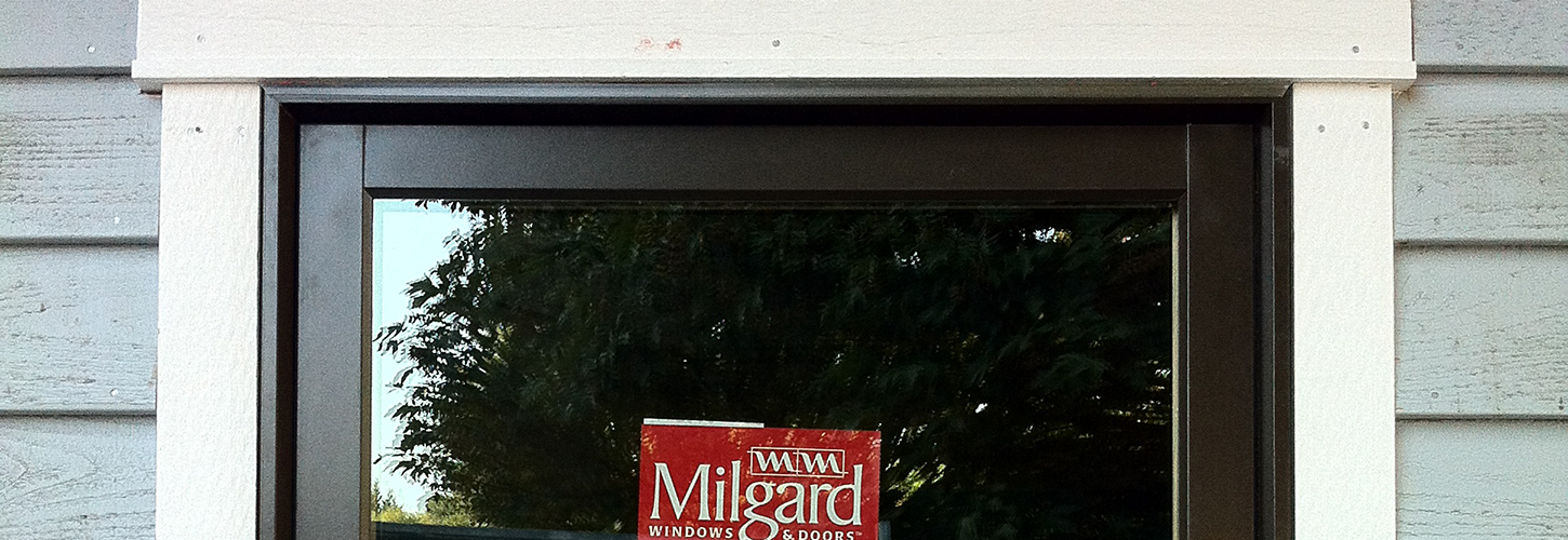 window with Milgard sticker on it
